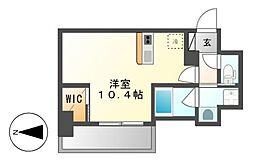 仮)ハーモニーレジデンス名古屋新栄[7階]の間取り
