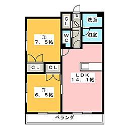 S-FORT四日市西新地[11階]の間取り