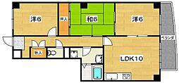 クレールTSUDA[4階]の間取り