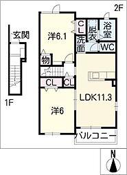 ドルチェセグレートII[2階]の間取り