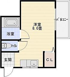 畑本ハイツ[2階]の間取り