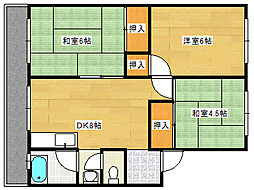米尾マンション[2階]の間取り