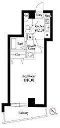 JR山手線 西日暮里駅 徒歩10分の賃貸マンション 3階1Kの間取り