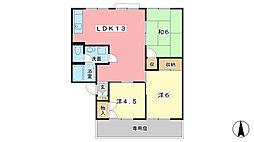 セジュール北八代A棟[1階]の間取り
