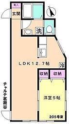 東京メトロ丸ノ内線 茗荷谷駅 徒歩7分の賃貸アパート 1階1LDKの間取り