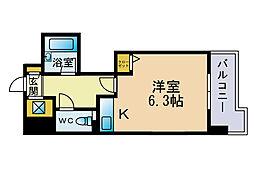 ライオンズマンション六本松第3[2階]の間取り