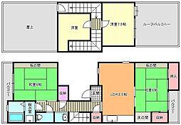 メゾーネ南田辺[4階]の間取り