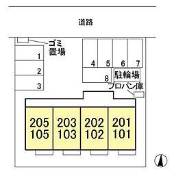 (仮)ウィット北茂呂[203号室]の外観