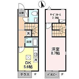 CasaJR箱崎 B棟[2階]の間取り
