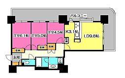 フォーラスタワー所沢[2階]の間取り