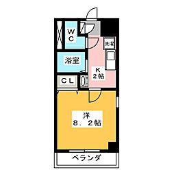 楽RAKU荘[6階]の間取り