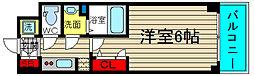 エスリード大阪ドームセルカ 8階1Kの間取り