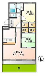 ホワイトリリー[1階]の間取り