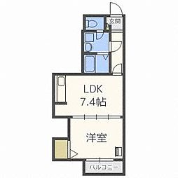 札幌三善第2ビル[5階]の間取り
