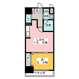 RESIDENCE KACHIGAWA[2階]の間取り