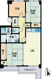 あさひマンション福岡[3階]の間取り