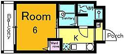 サニーハウス[4階]の間取り
