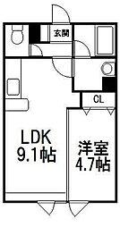 ラポート星置[5階]の間取り