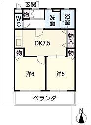primiyellTSUNEKAWA[3階]の間取り