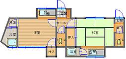 長崎県長崎市東山町の賃貸アパートの間取り
