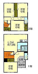 [一戸建] 北海道小樽市長橋1丁目 の賃貸【/】の間取り