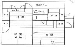 グランドハイツ安田II[101号室]の間取り