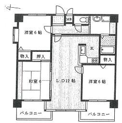 アトレ武庫[805号室]の間取り