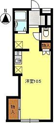 ドルフフジミC[203号室]の間取り