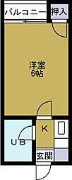 ロータリー38[5階]の間取り