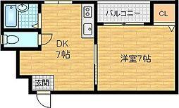 メルフォーレ 1階1DKの間取り