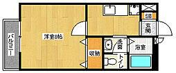 京都府京都市伏見区小栗栖岩ケ渕町の賃貸アパートの間取り