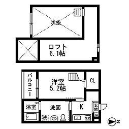 シェモワ笹塚 (シェモワササヅカ)[2階]の間取り