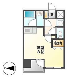 マストスタイル東別院[7階]の間取り