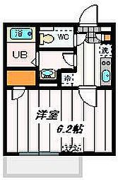 埼玉新都市交通 鉄道博物館(大成)駅 徒歩13分の賃貸マンション 2階1Kの間取り