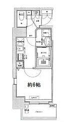 Osaka Metro中央線 九条駅 徒歩6分の賃貸マンション 4階1Kの間取り