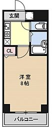 エレガント西院[402号室号室]の間取り