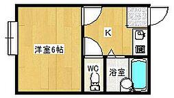 大阪府八尾市佐堂町3丁目の賃貸マンションの間取り