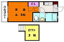 ソフィア唐原A[1階]の間取り