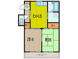 東友チャームハイツ I[2階]の間取り