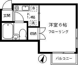 ファミーユ学芸[203号室]の間取り