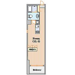 スタジオアパートメント WK[7階]の間取り