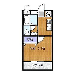 センチュリー707[1階]の間取り