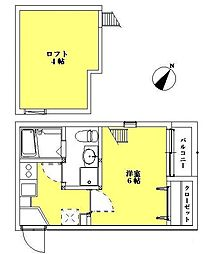 ボナール高宮[1階]の間取り