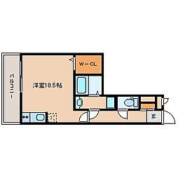 兵庫県尼崎市南塚口町1丁目の賃貸アパートの間取り