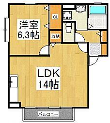 グランドソレイユIII[1階]の間取り
