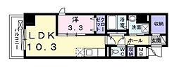 Osaka Metro谷町線 天神橋筋六丁目駅 徒歩7分の賃貸マンション 8階1LDKの間取り