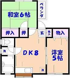 永田貸家[2F号室]の間取り