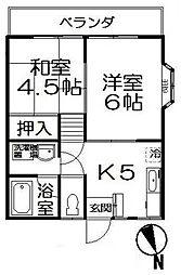 カームハイツII bt[2階]の間取り
