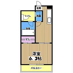 東京都八王子市台町2丁目の賃貸マンションの間取り