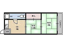ナカジョウマンション[2階]の間取り